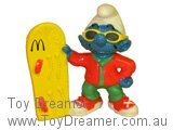 Snowboarder Smurf