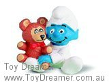 Baby Smurf with Teddy Bear