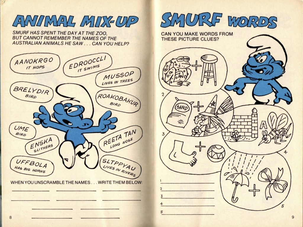 Smurfs Words